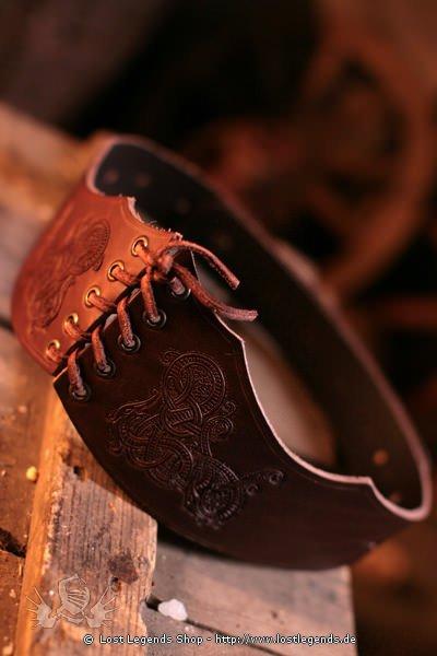 Mittelalter Kleidung armband aus Leder