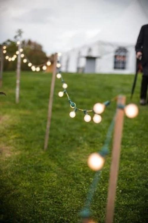 Sommerparty den Outdoor-Bereich beleuchten Lichterkette
