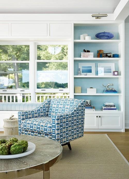Veranda blau-weiß
