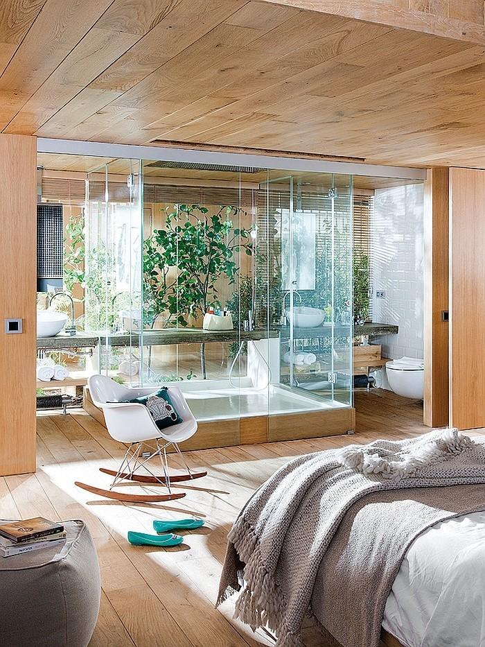 breite anwendung vom hoz und glas loftwohnung