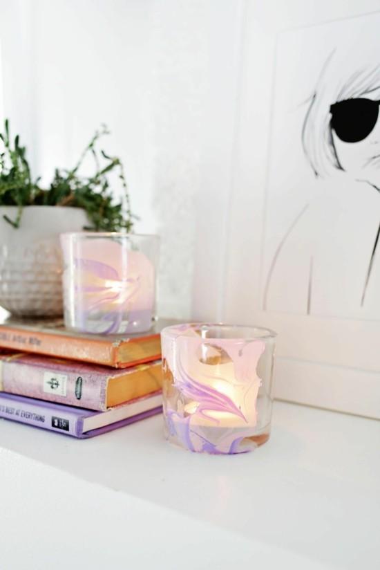 diy teelicht marmor deko selber machen