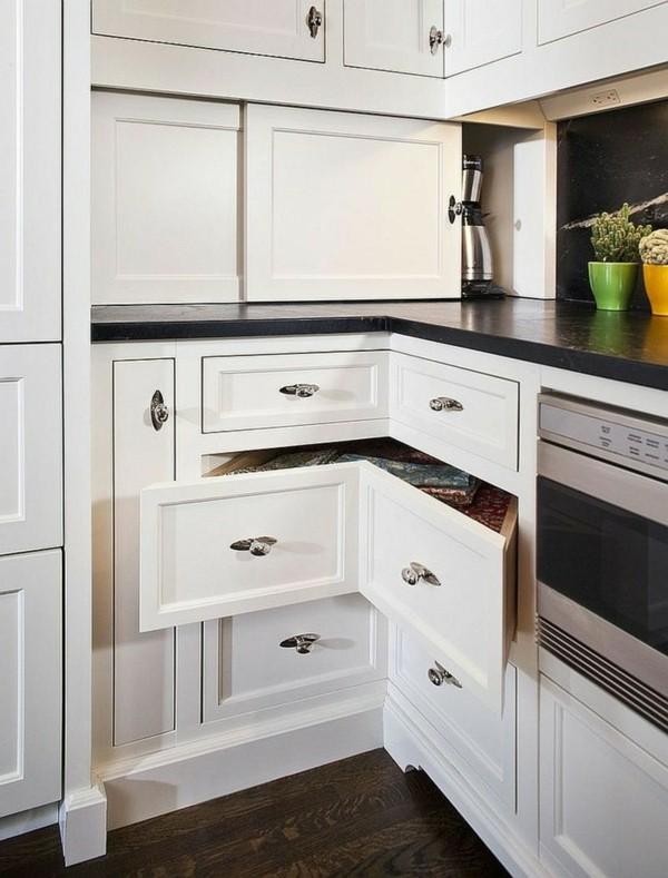 eckschränke kleine küche weiß