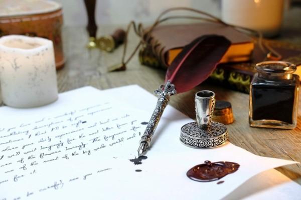 expressives schreiben luxus papier und tinte