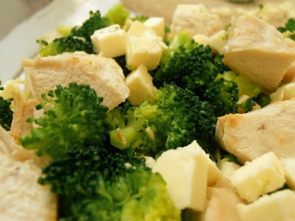 fleisch und brokkoli portion idee