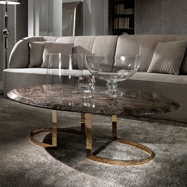 gold marmor couchtisch oval