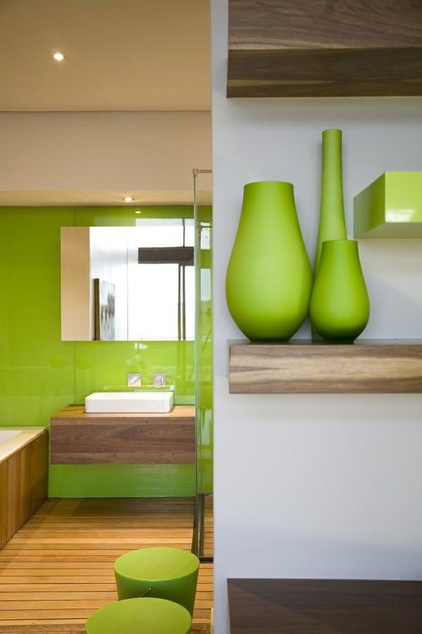 grüne akzentwand und accessoires traumhaus