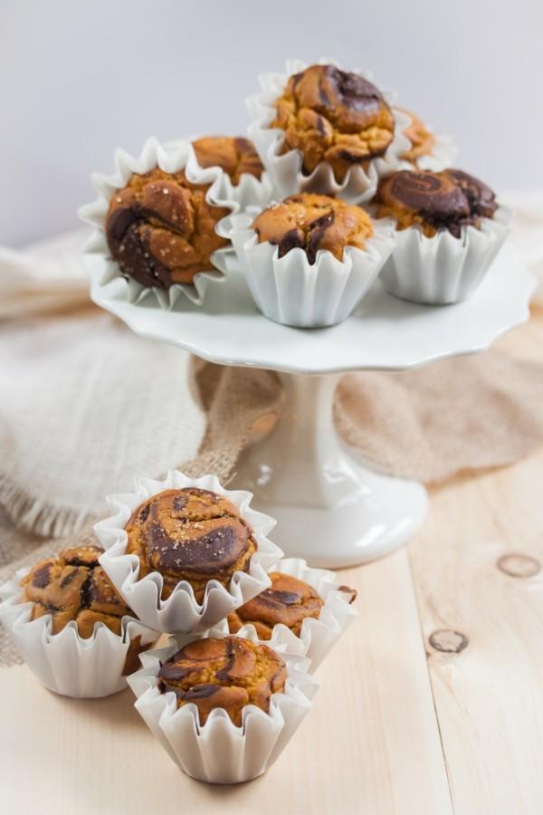 kürbis schokolade marmor muffins