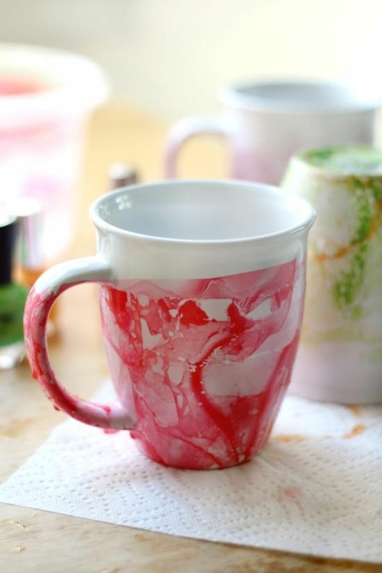 kaffeetasse marmorieren marmor deko selber machen