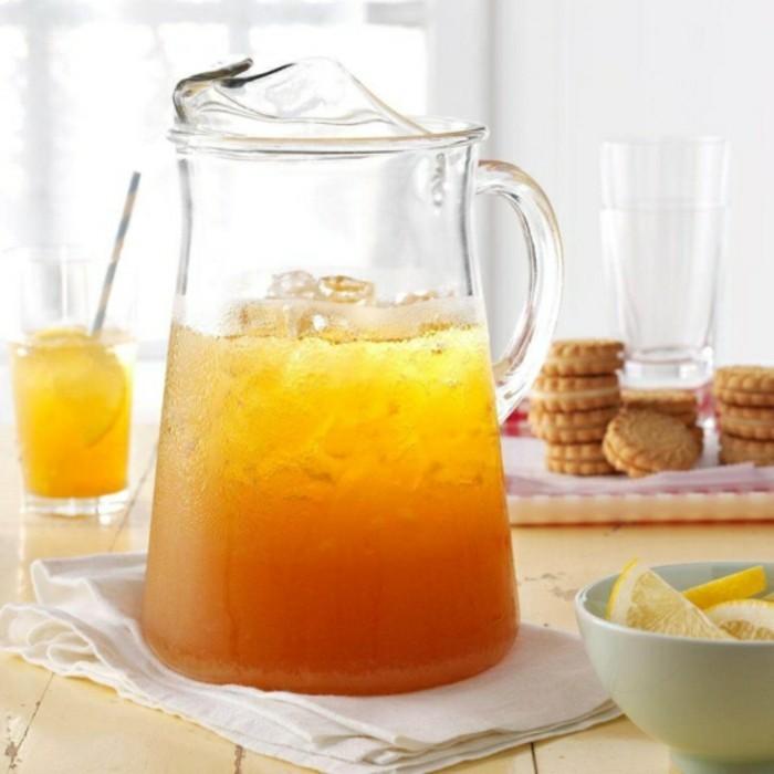 kanne in zwei farben limonade ideen