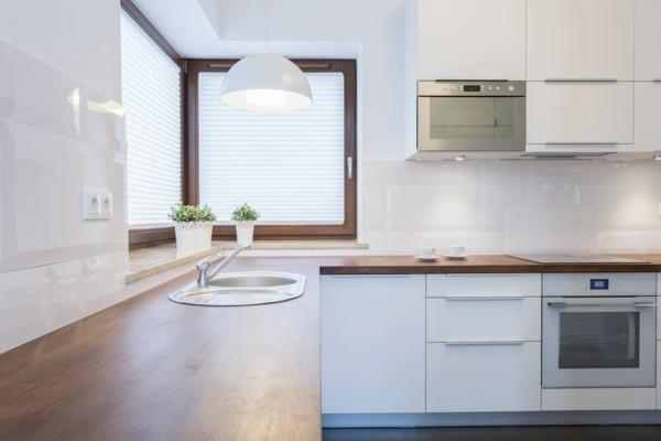 kleine eckküche einrichten