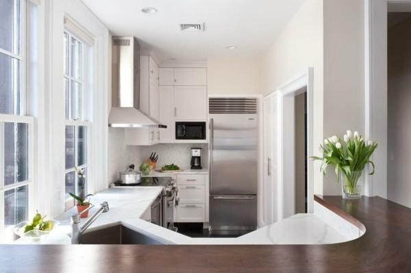 kleine eckküche in weiß
