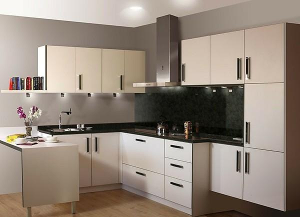 kleine eckküche modern einrichten