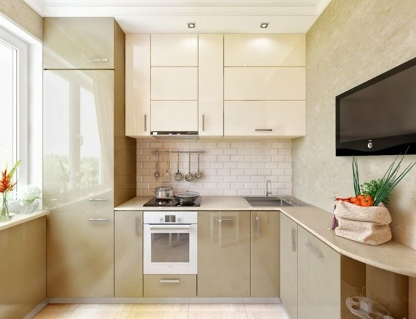 kleine eckküche moderne kücheneinrichtung