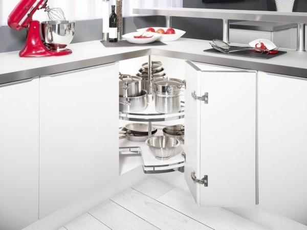 kleine eckküche unterschränke weiß