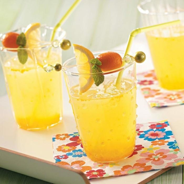limonade ideen drei schöne gläser