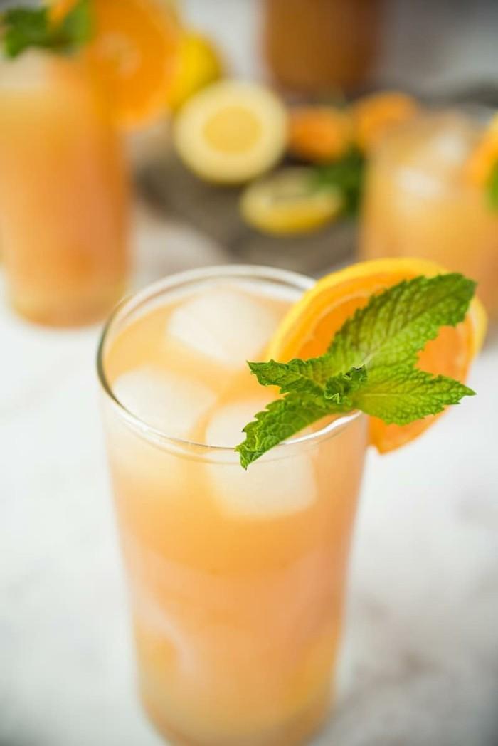 limonade ideen früchtiger einfall