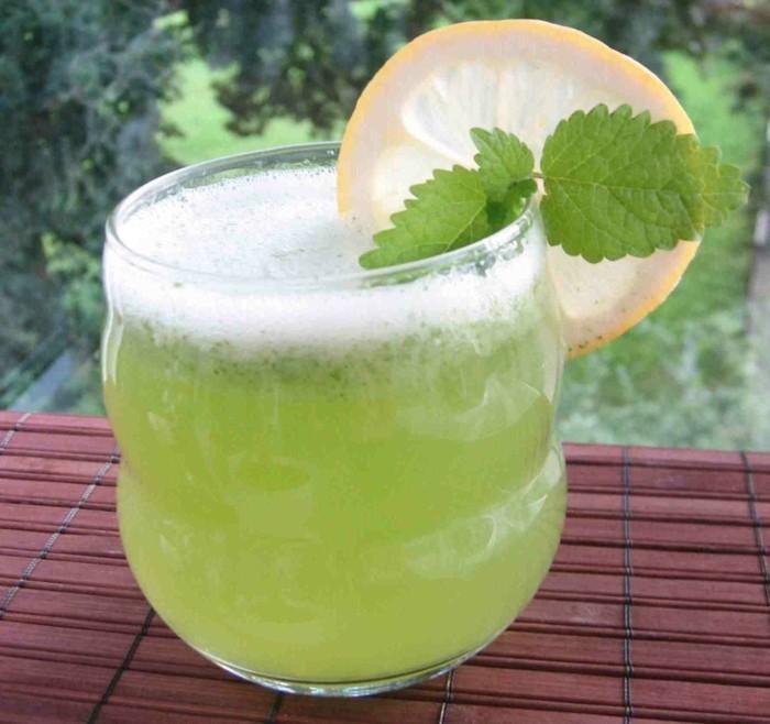 limonade ideen grünes getränk