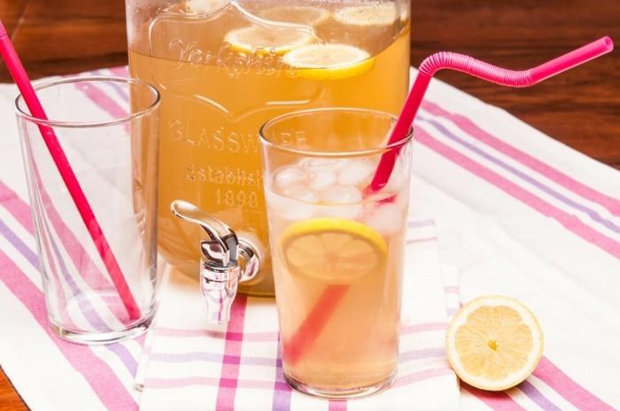 limonade ideen lustige strohhalme