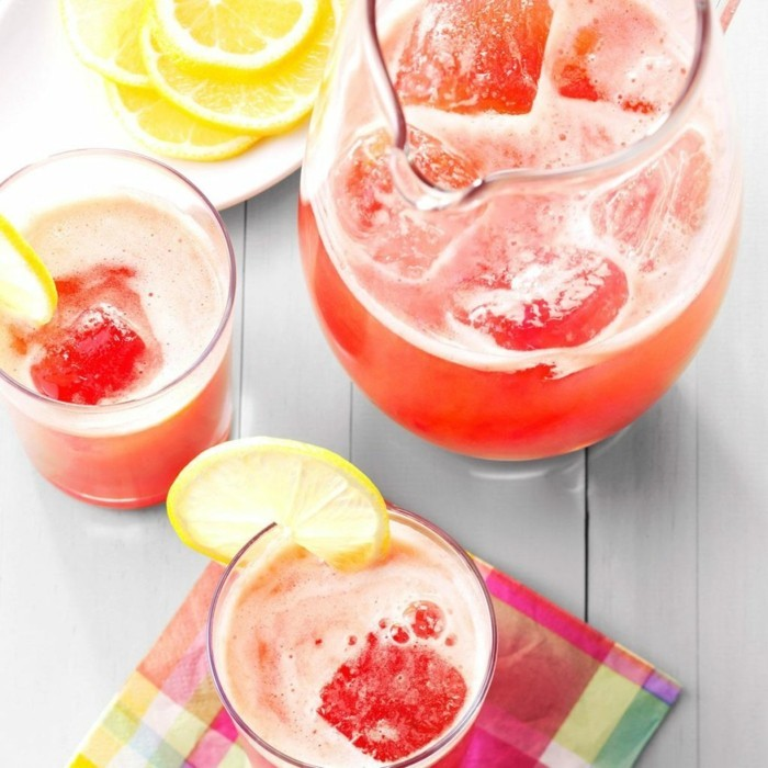 limonade ideen tolle rote frische