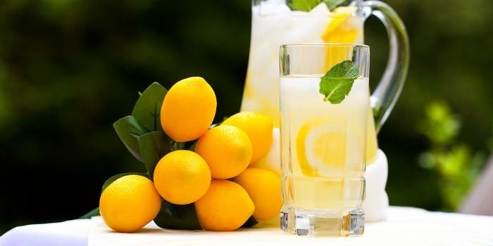limonade ideen zitronen deko