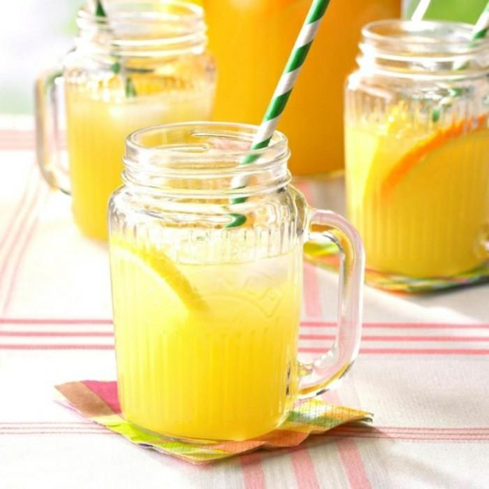 limonade ideen zitronen in glas
