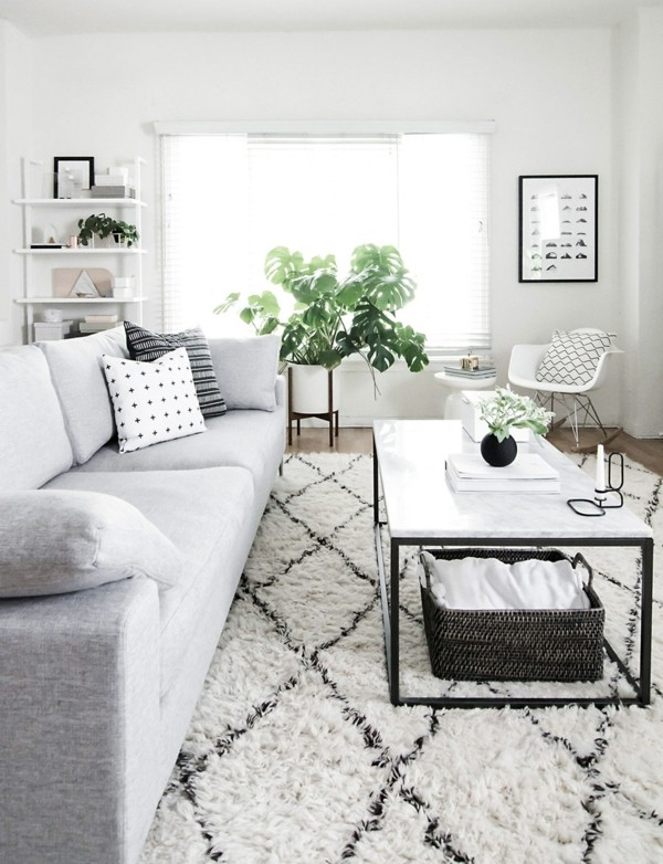 marmor couchtisch lang wohnzimmer