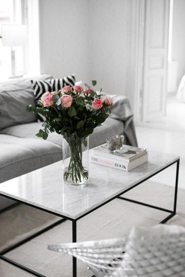 marmor couchtisch rechteckig wohnzimmer