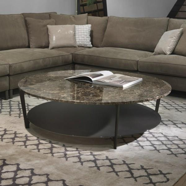 marmor couchtisch rund modernes design
