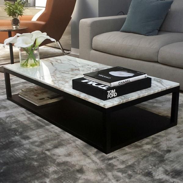 marmor couchtisch wohnzimmer trend