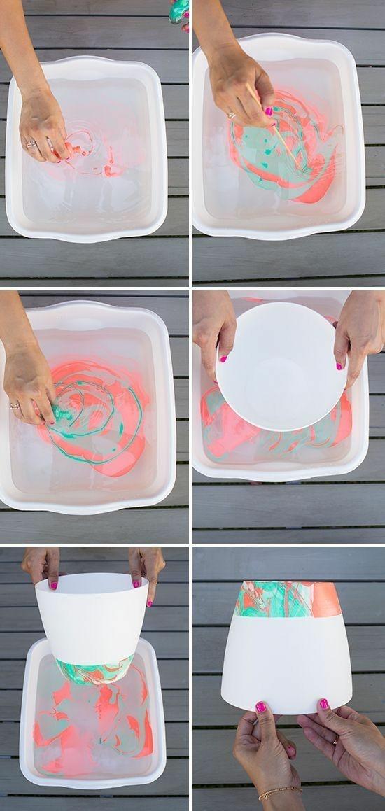 marmor deko mit nagellack selber machen