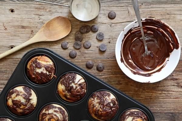 marmor muffins dunkle schokolade schoko nibs