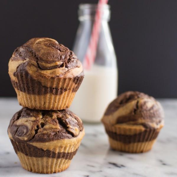 marmor muffins mit milch