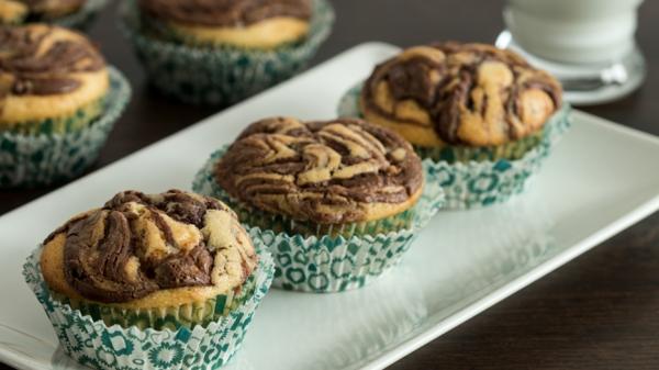 marmor muffins mit nutella