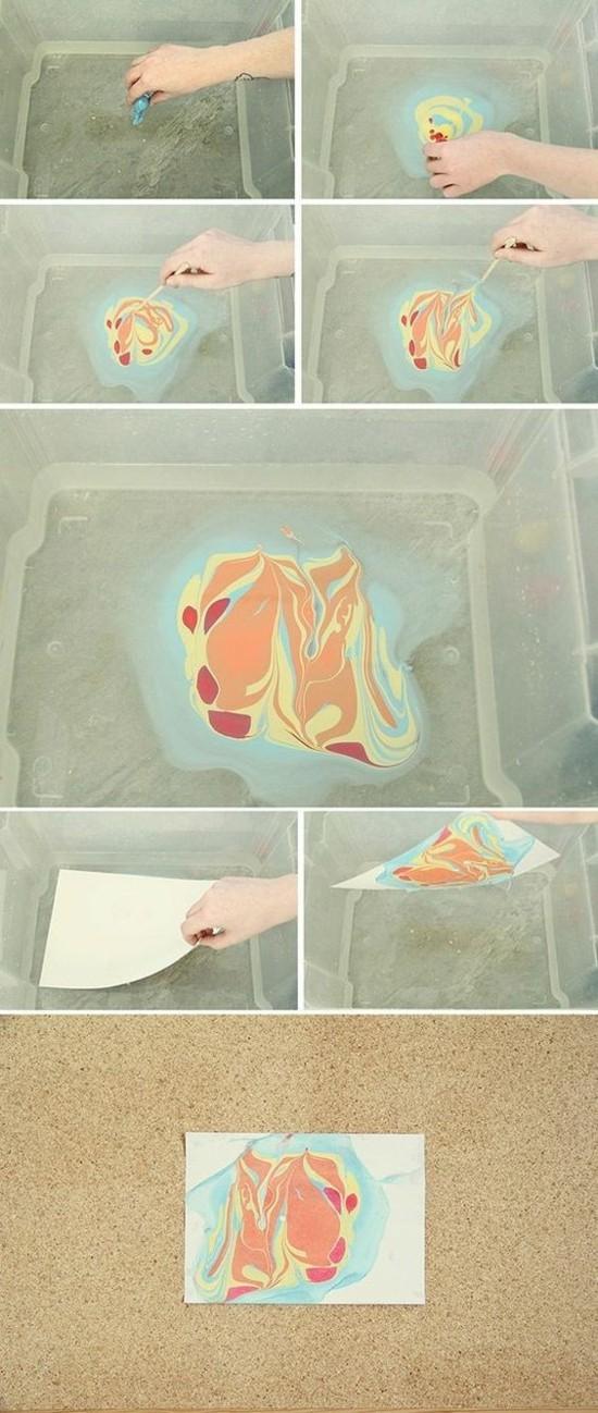 papier marmorieren anleitung