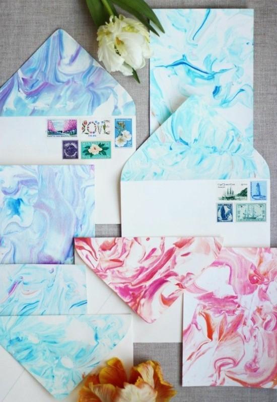 papier marmorieren marmor deko