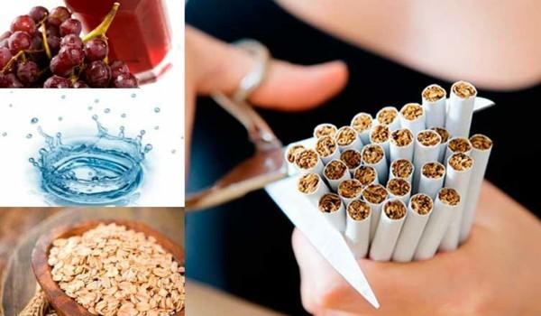 rauchen aufhören tipps gesundes essen und wasser