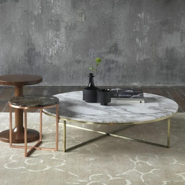 runder marmor couchtisch wohnzimmer
