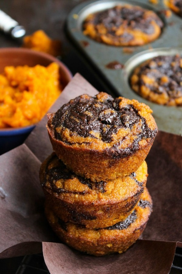 schokolade kürbis marmor muffins
