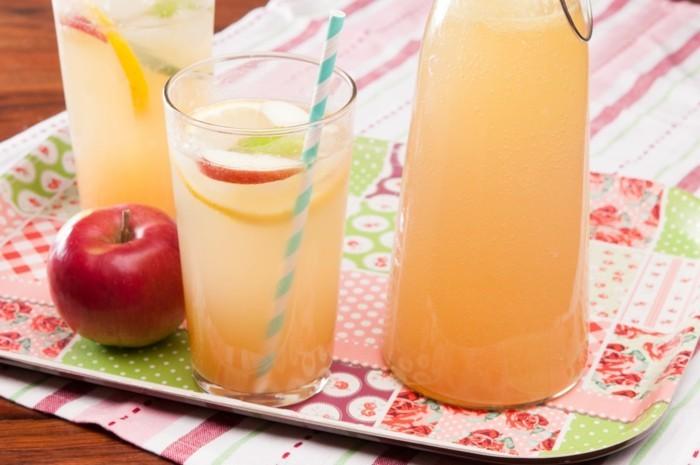 tablett mit zitronade limonade ideen