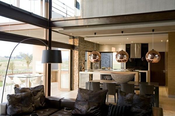 traumhaus wohnzimmer und küche