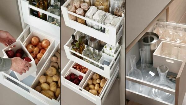 unterschränke ordnen kleine eckküche