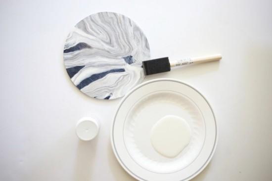 untersetzer marmorieren marmor deko selber machen