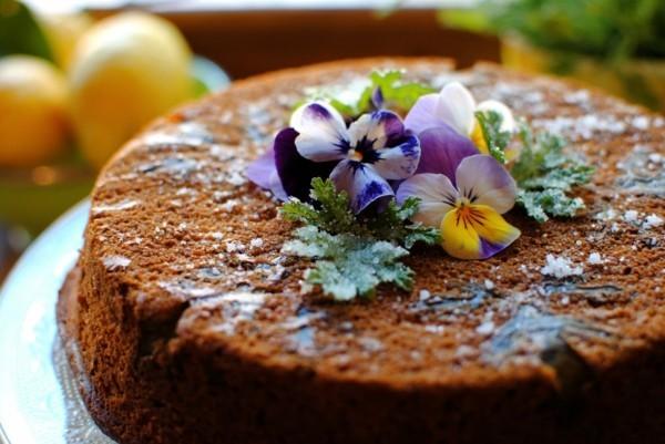 zitronengeranie bluete blatt torte