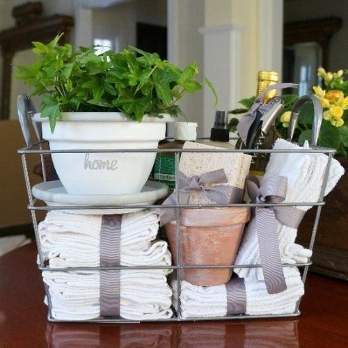 Überraschungseffekt hand-und Badetücher Blumentöpfe Geburtstagsgeschenke für Mama
