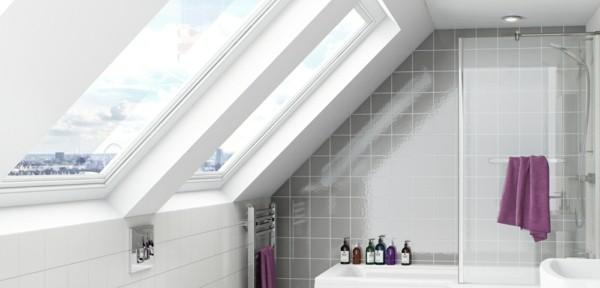 Badezimmer Ideen für kleine Bäder dachschraege