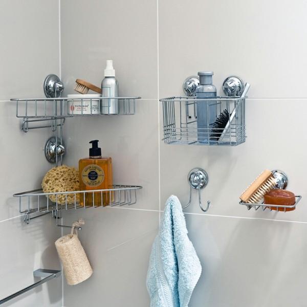 Badezimmer Ideen für kleine Bäder eckregal