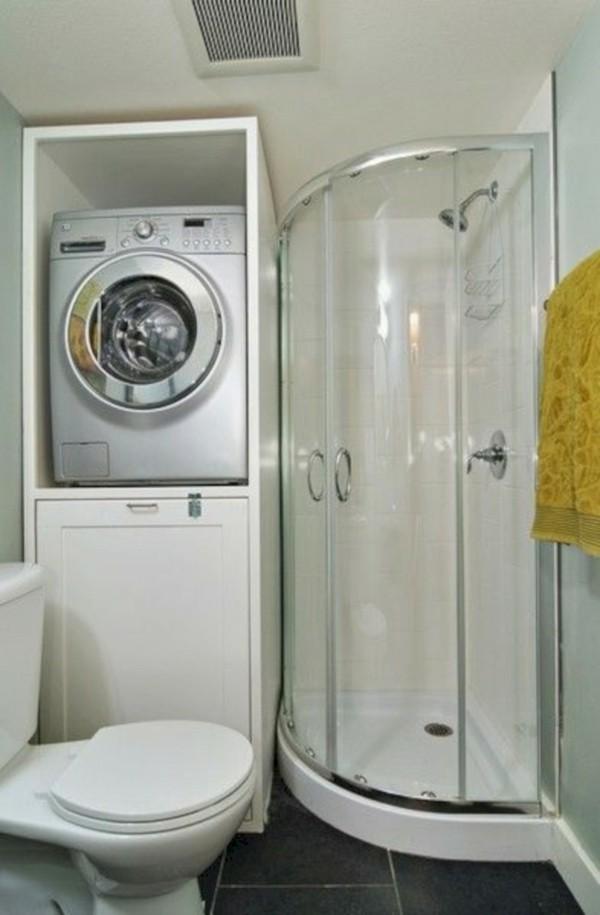Badezimmer Ideen für kleine Bäder waschmaschine