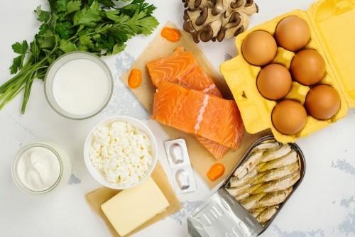 Goldene Regeln für gesundes Leben kein Fleisch aber Fisch und Milchprodukte