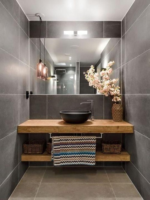 Holz im Bad Wassertisch aus Holz