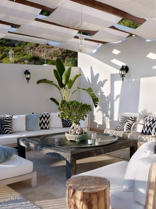 Mediterran wohnen auf der Veranda